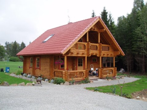 This beautifully spacious 2 bedroom log home will fit well for Two bedroom log cabins